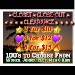Other - 💥5/$15💥3/$12💥2/$10💥CLOSET CLOSEOUT CLEARANCE💥